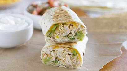 Chicken & Broccoli Grilled Burritos